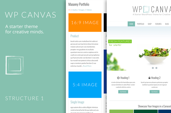 A Starter Theme - WP Canvas by Web Plant Media on @graphicsmag ...