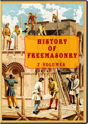 THE HISTORY OF FREEMASONRY - 7 Vols CD Set, freemason masonic lodge secrets