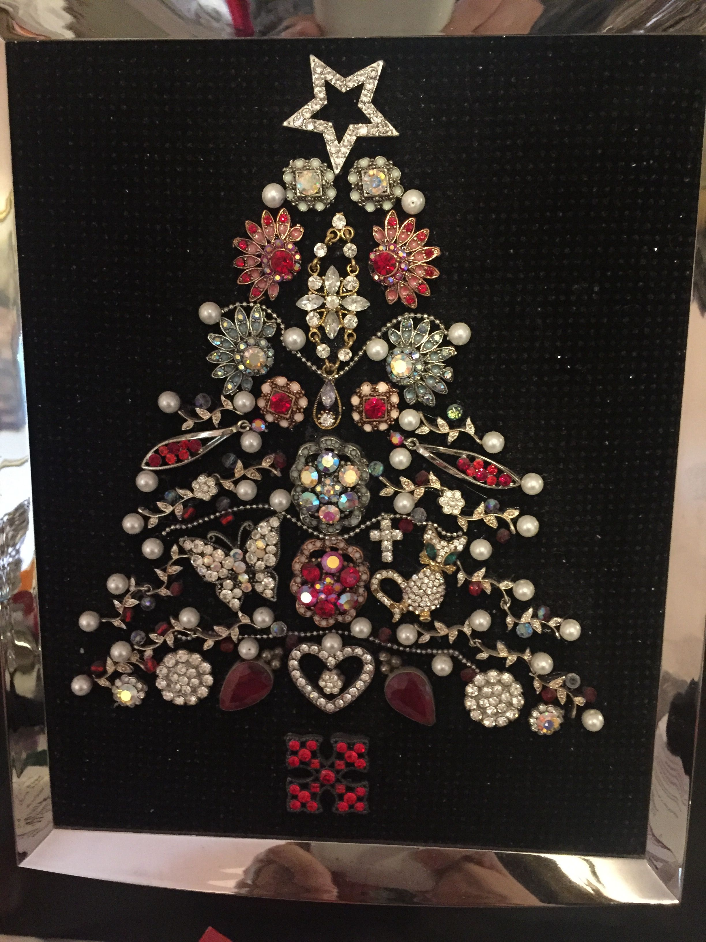 My First Attempt At Jewelry Art Old Jewelry Crafts Vintage Jewelry Crafts Jewelry Christmas Tree