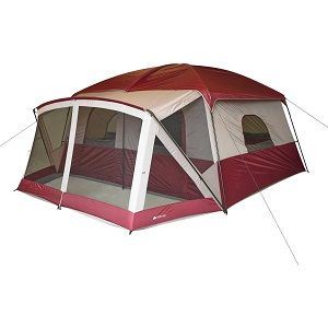Large Ozark Trail 12 Person Camping Tent With Screen Porch This Has Straight Walls A Center Height Of 86 Inches