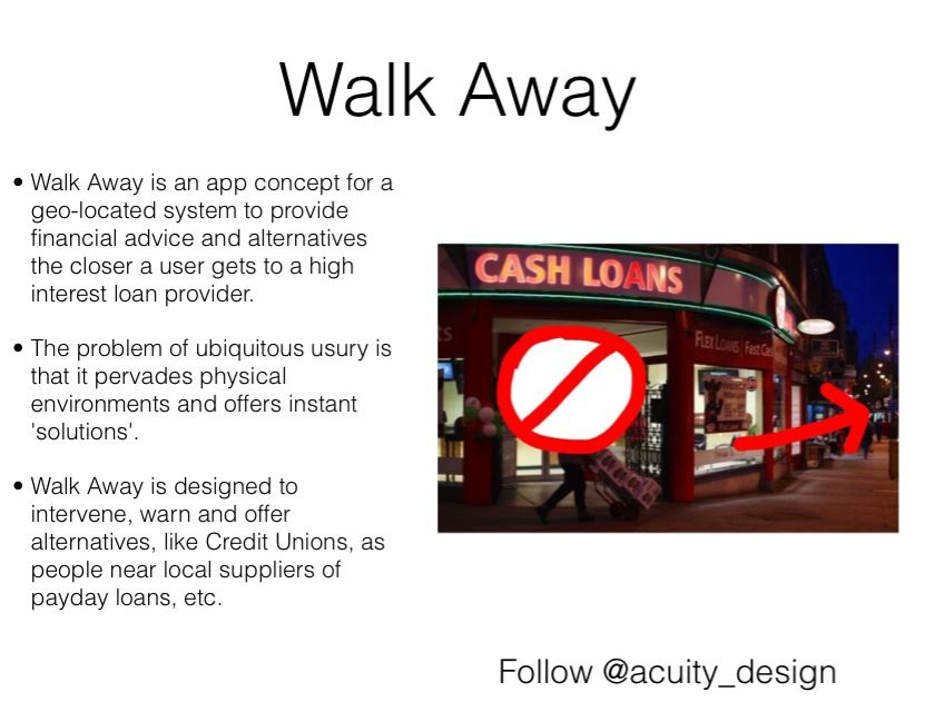 Walk Away an app concept to offer people options and