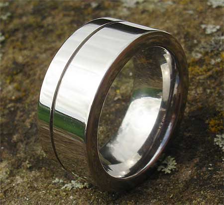 Chunky Titanium Mens Wedding Ring LOVE2HAVE in the UK