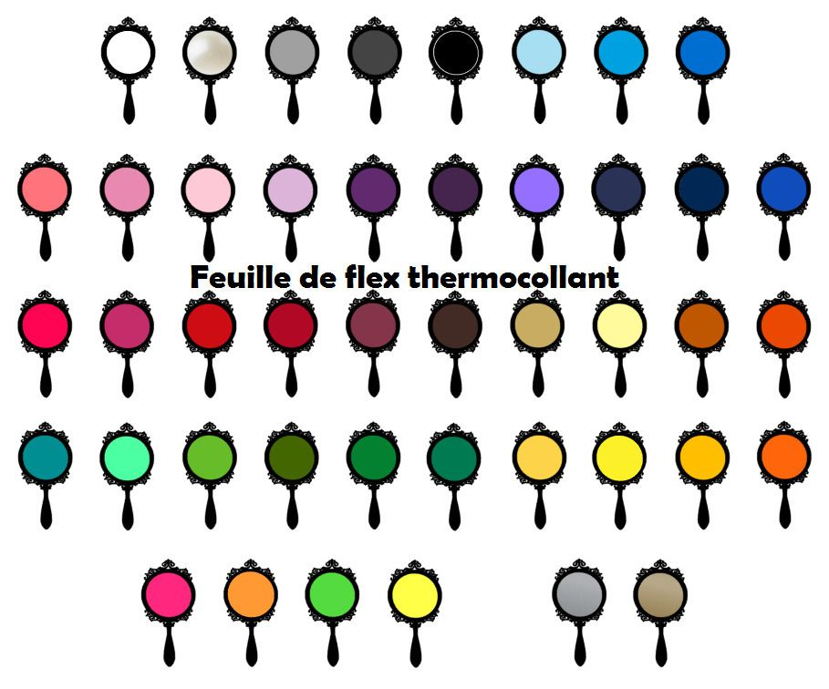 Feuille de flex thermocollant NUANCIER CLASSIQUE : Déco, Customisation Textile par feuille-de-flex-thermocollant