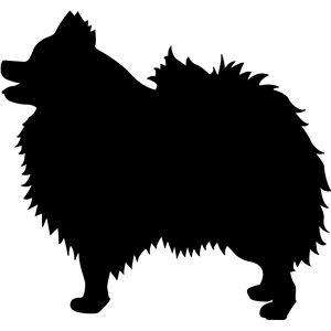 Pomeranian Dog Silhouette Animal Silhouette Silhouette Art