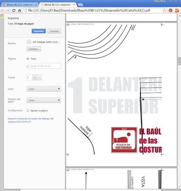 Cómo descargar, imprimir y guardar los patrones de costura | Costura ...