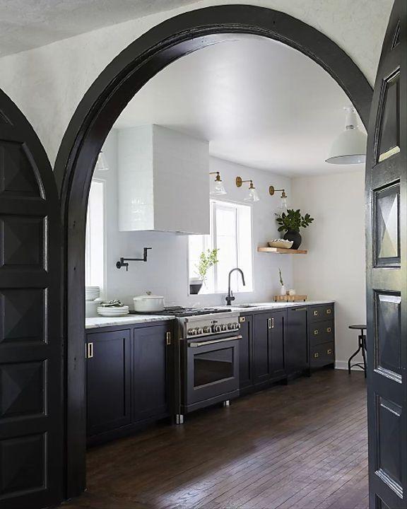 Dark Blue Kitchen Design