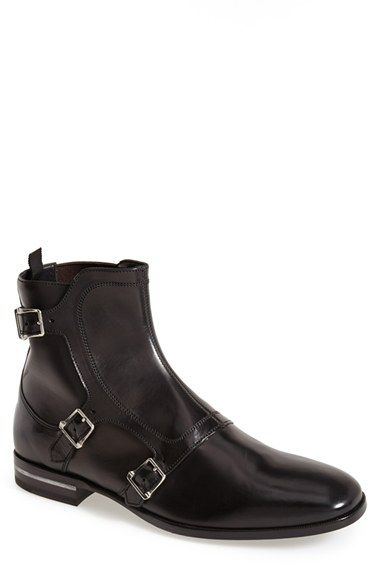 Alexander Mcqueen Three Buckle Boot Men Three Buckle Boots