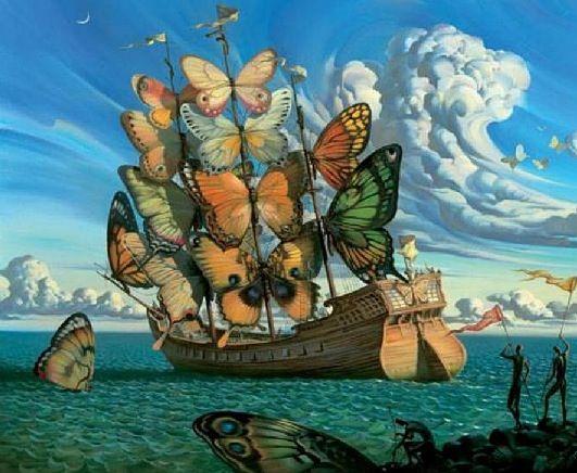 Butterfly ship