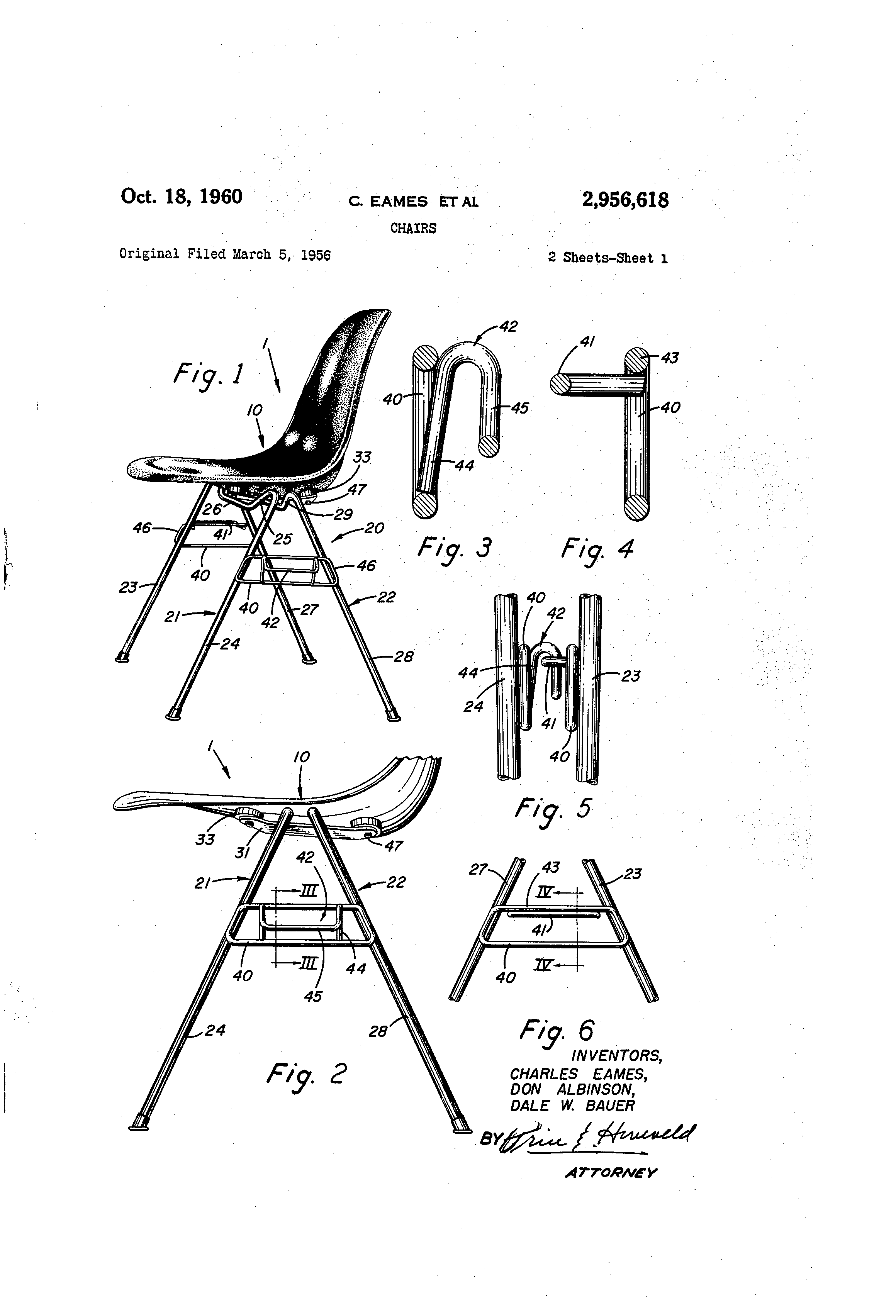 Eames Chair Patent Patent Us2956618 Chairs Google Patents Eames Print