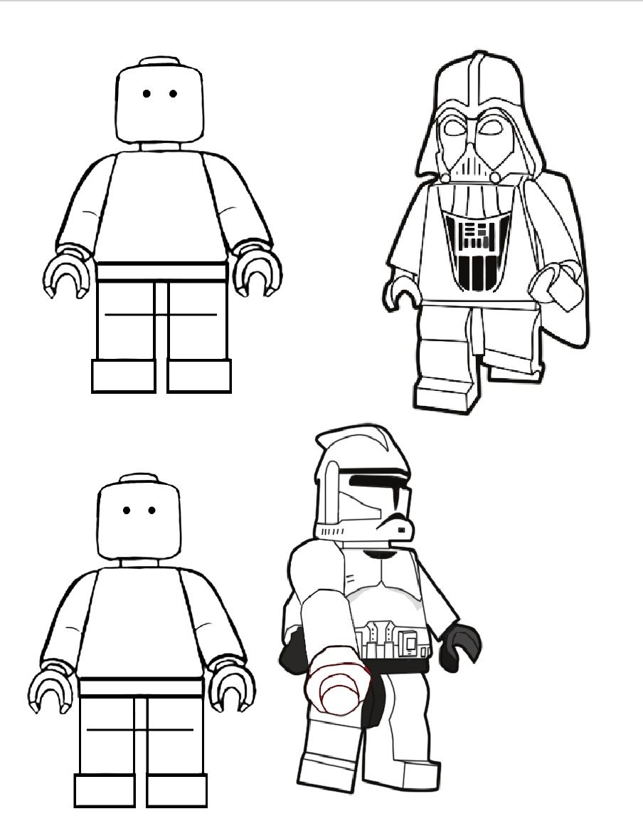 LEGO Colouring Book | Clases | Pinterest | Dibujos star wars, Legos ...