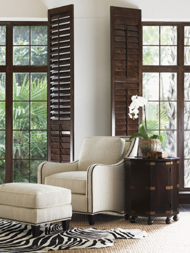 British Colonial Style Traditional Window Shutters