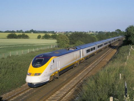 Image result for eurostar high speed train countryside photo""
