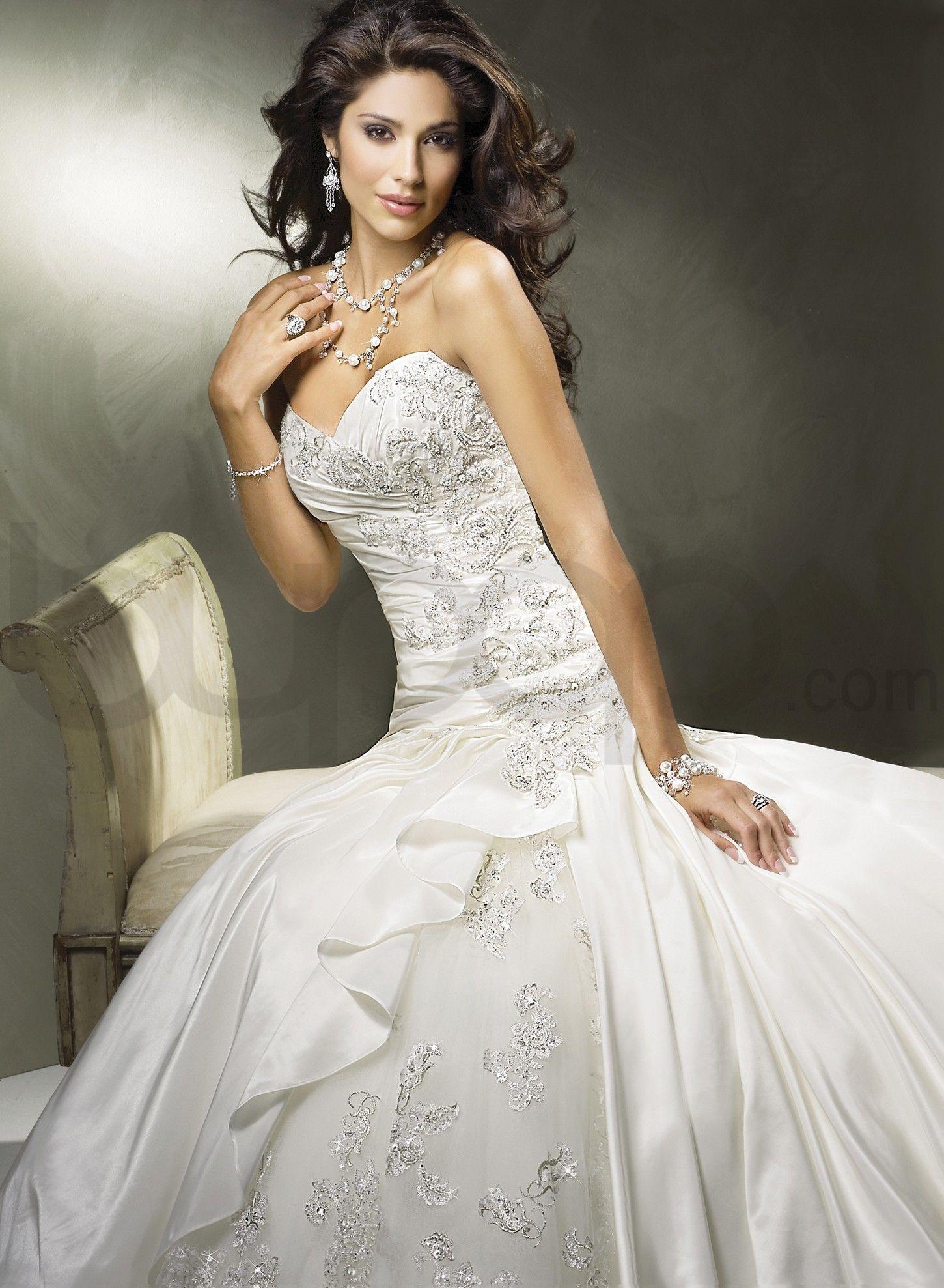 close up of dress Drop waist wedding dress, Dream