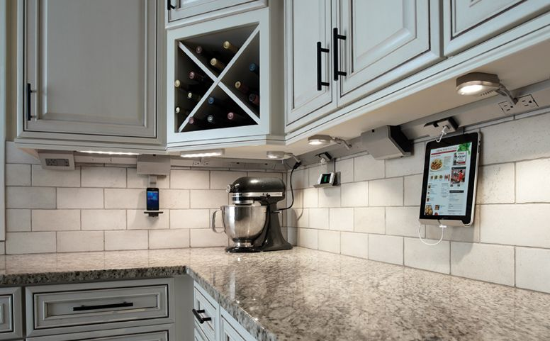 Kitchen Under Cabinet Lighting Power System Ipad Iphone Docks Led Lighting No Outlets In Your Back Home Kitchens Under Cabinet Lighting Cabinet Lighting