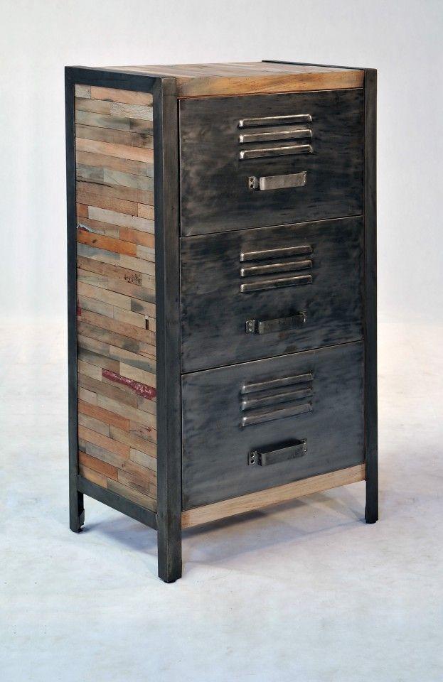 Commode Locker Mobilier De Salon Ameublement Industriel Vintage Chambre Industrielle