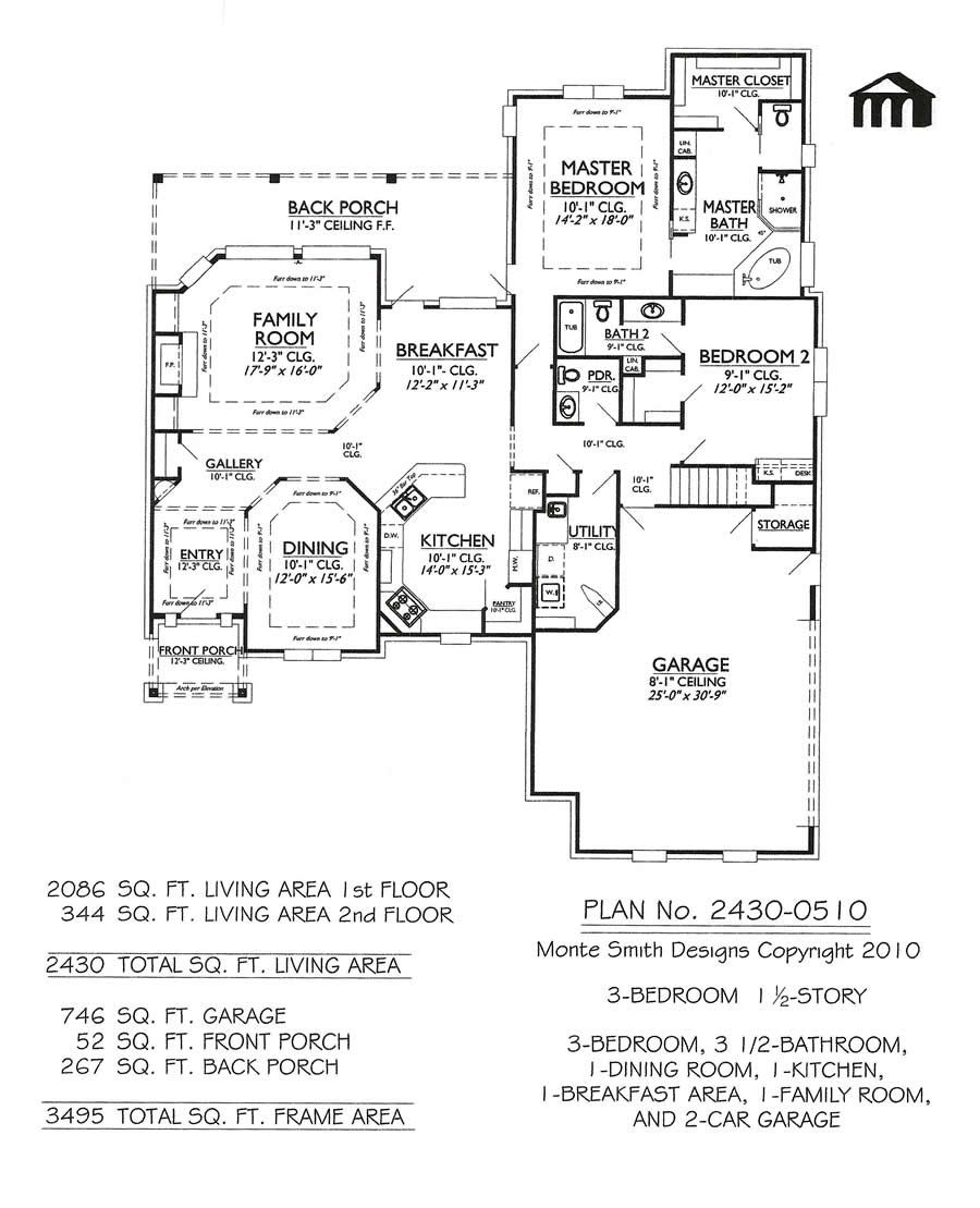 2430 0510 3 Room House Plan 3 Room House Plan Small House Floor Plans Rectangle House Plans