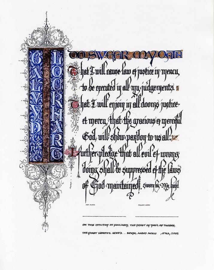 Medieval Reenactment Scroll | Hand Calligraphy Illuminated Award | THE GORST STUDIO