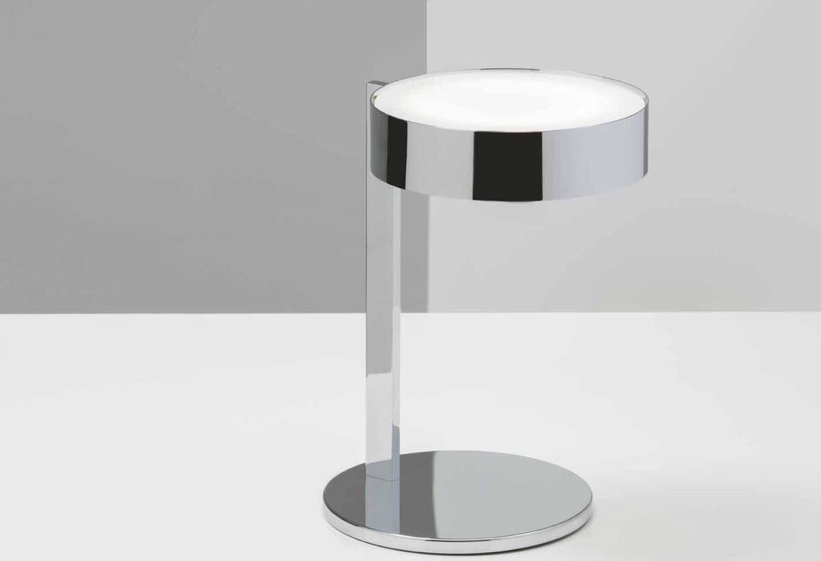 Demetra Small Table Lamp Polished Chrome Designer William Pianta Small Table Lamp Lamp Task Lamps