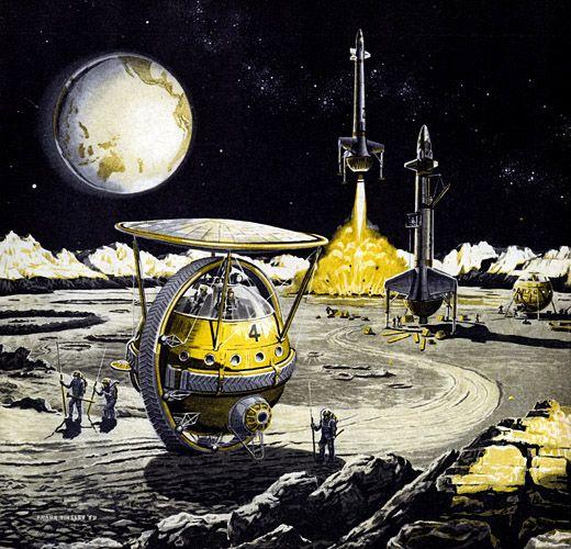 Space And Scifi Things With Zmodeler: Ilustraciones Retro-futuristas