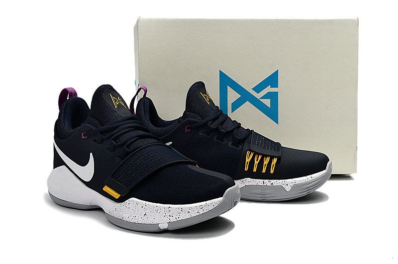 351edc391ae4 Young Big Boys Nike PG 1 Ferocity Obsidian University Gold Hyper Violet  Indiana Pacers 878627-417