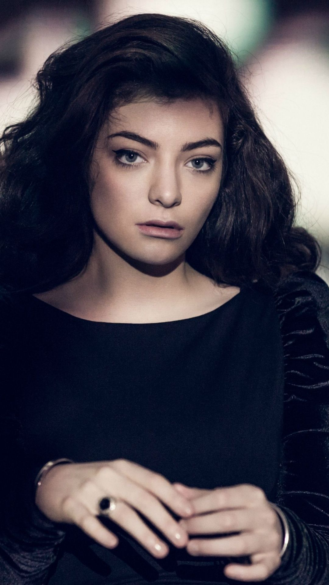 Lorde Black Dress Famous Singer Celebrity 1080x1920 Wallpaper
