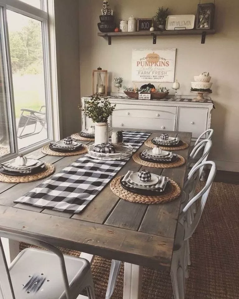 ✔43 wonderful and cool farmhouse style dining room design ideas 10 images