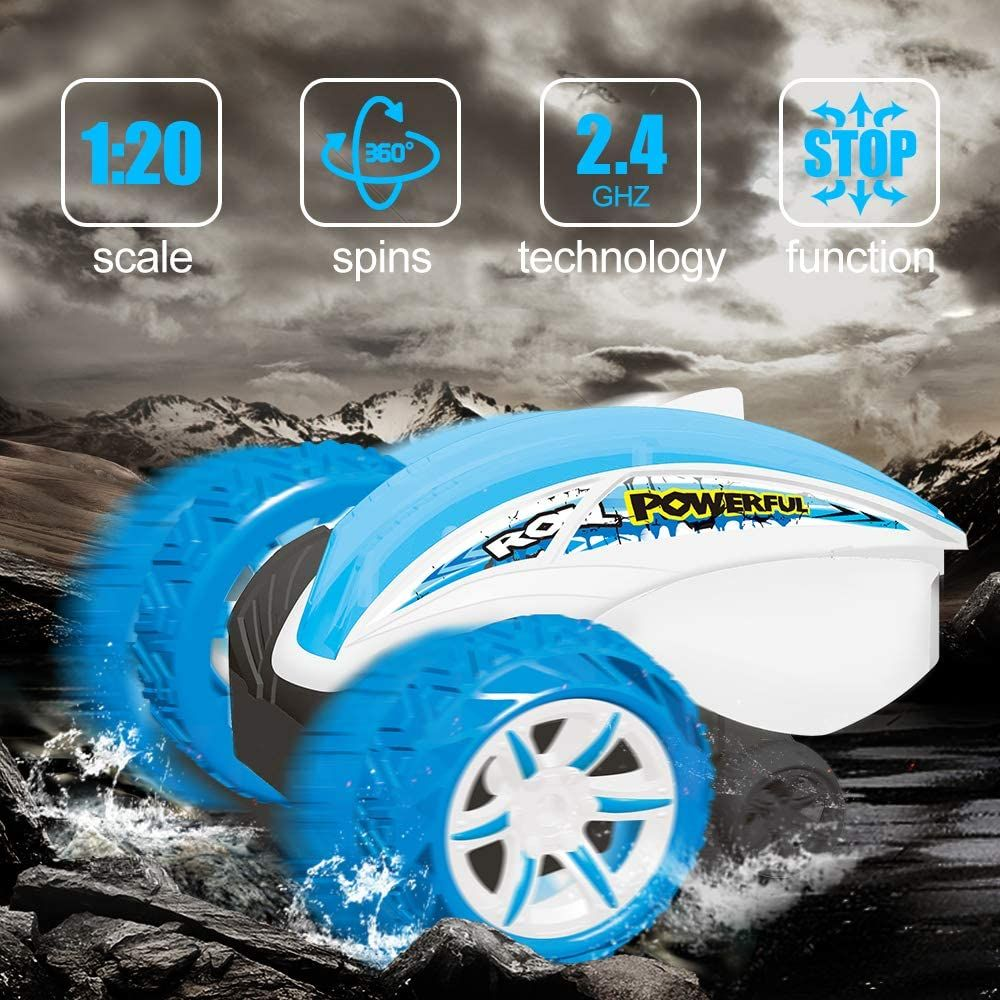 8 7 5 2.4GHz Rotating Stunt Truck Spinning Vehicle Toy for Kids Age 4 9-12 Year Old Fisca Remote Control Car RC Tumbling Cars 6