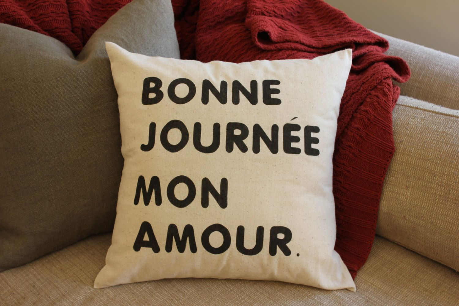 Bonne Journee Mon Amour/Good Day My Love Quote - Rustic ...