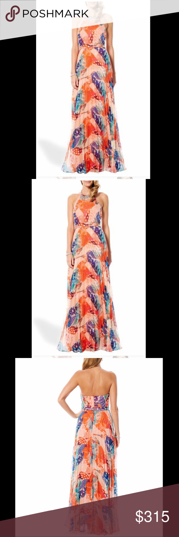 Watercolor Halter Maxi Dress Brand New With Tags Sold Out Retail 345 Laundry By Shelli Segal For Anthropol Halter Maxi Dresses Orange Maxi Dress Maxi Dress [ 1740 x 580 Pixel ]