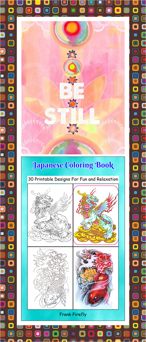 30 High Definition Coloring Pages Black Outlines With Colored Examples This Japanese Art Therapy