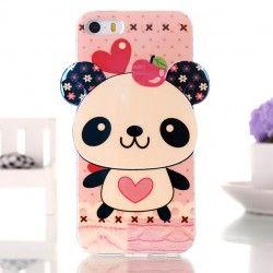 iPhone 5, 5s Cute Panda TPU case cover hoesje