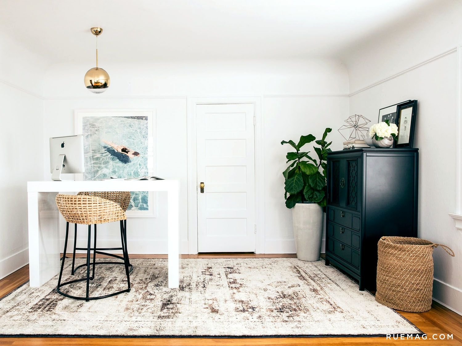 Julie Edwards's Office Makeover with Loloi Rugs | Rue