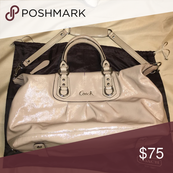 Coach cream Satchel Pre-owned but in great condition, clean interior minus minor scuffs & pen marks Coach Bags Satchels