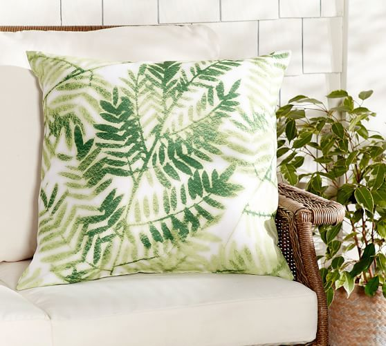 Pottery Barn Throw Pillow Green : Sale $18.99 Green Ferns Print Outdoor Pillow Pottery Barn Objects Pinterest Fern, Barn ...