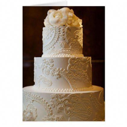 Vintage Lace Wedding Cake | Zazzle.com