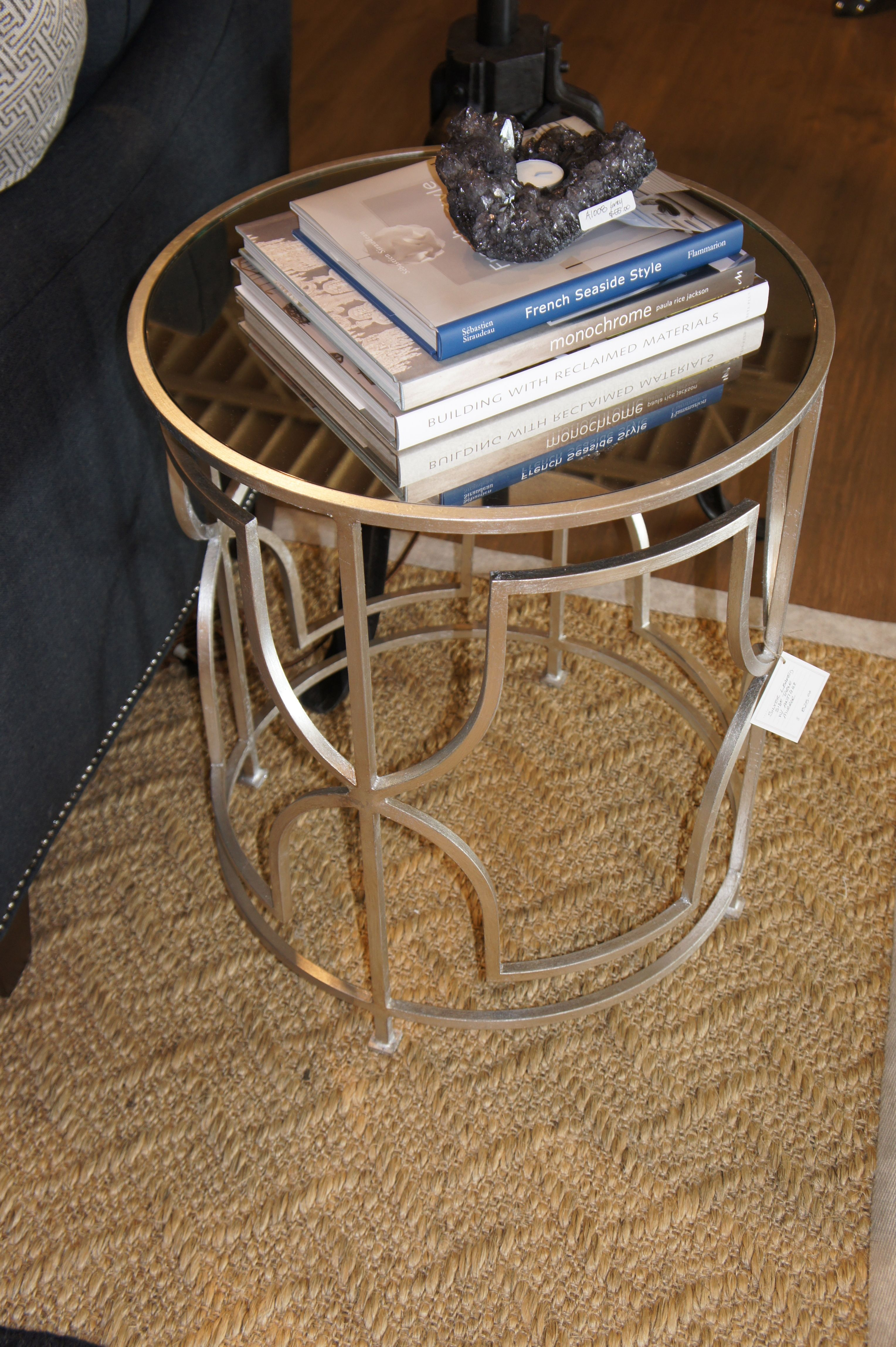 Mirrored Top, Open Metal Base - May 2012
