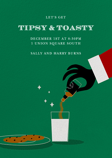 Naughty Santa by Paperless Post. Send custom online holiday party invitations with our easy-to-use design tools and RSVP tracking. View more holiday invitations on paperlesspost.com.  #booze #cookies_and_milk #magic #naughty #santa