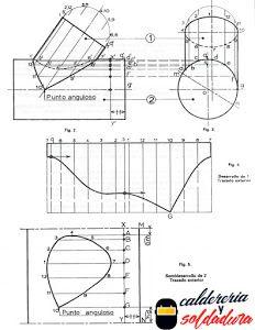 Trazado De Interseccion De Dos Cilindros De Diametros Diferentes Peru Welder Caldereria Caldereria Dibujos De Geometria
