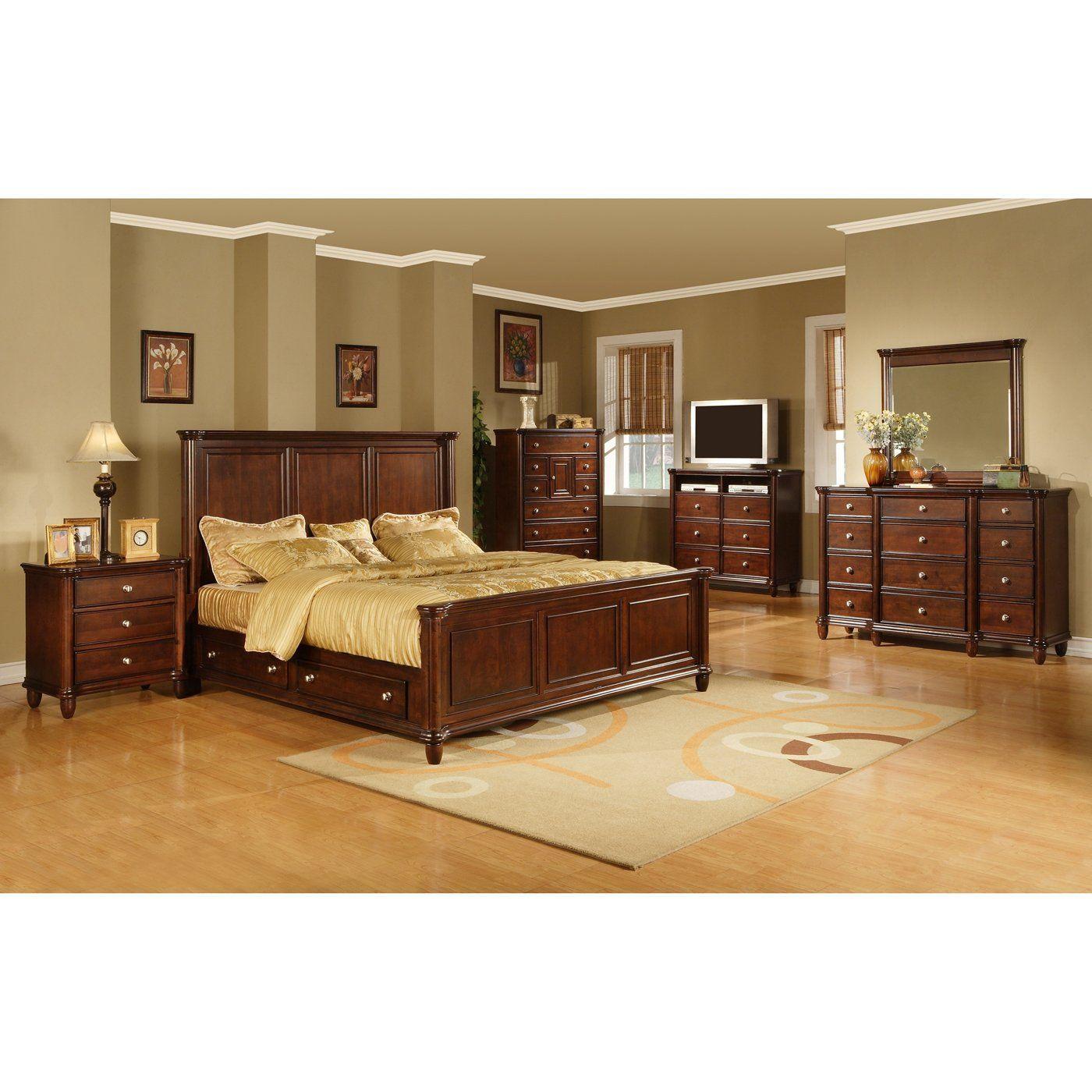 Elements International Hamilton Bedroom Set