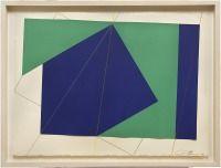 """Chris Cristofaro - Abstract Geometric Mixed Media Collage """"PO148"""", 1977"""