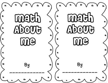 Math About Me Mini-Book {Great for Back-to-School or any