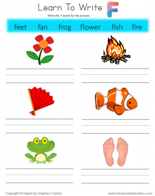 9 letter words starting with f learn to write words that start with f free printable 4834