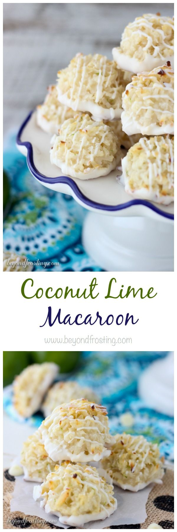 These simple coconut macaroons are made with sweetened condensed milk, shredded coconut and lime zest. Dip these in white chocolate and call it day. These are simply amazing.