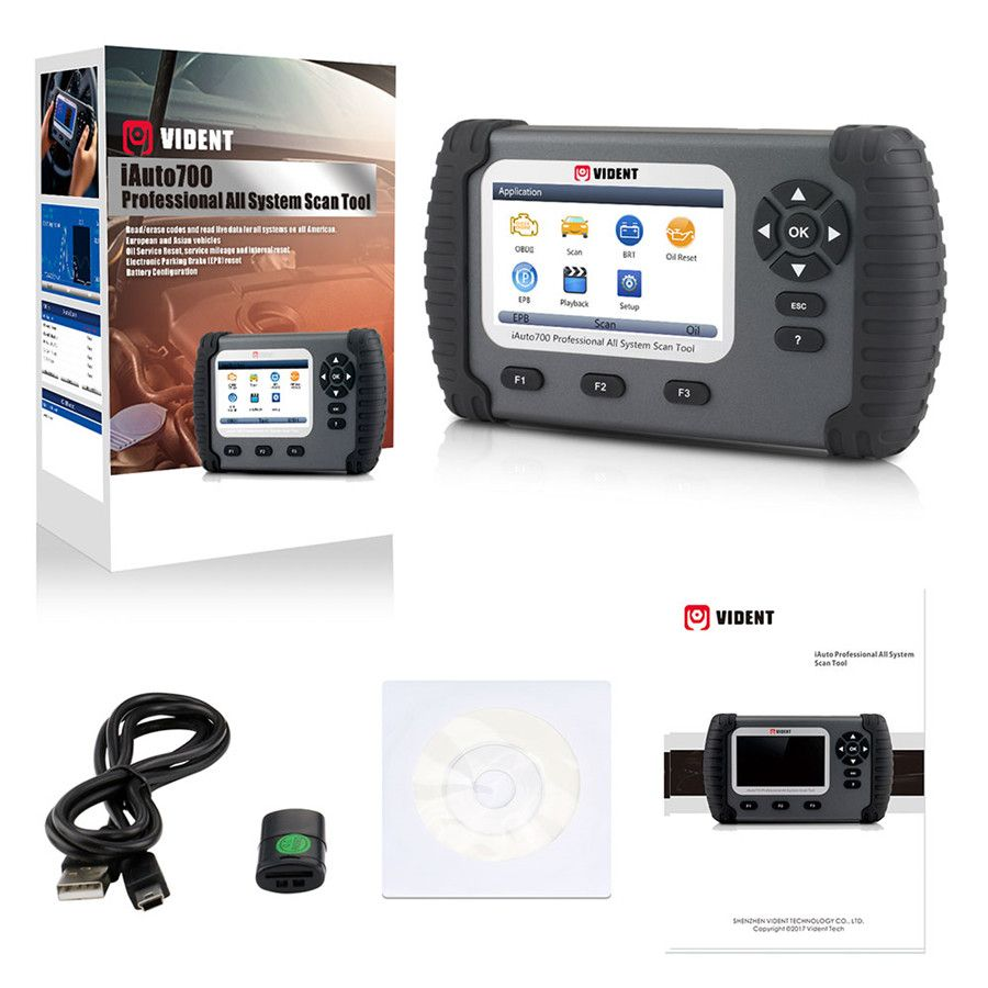 VIDENT iAuto700 Full System Diagnostic Tool for Engine Oil Light EPB