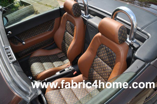Louis vuitton seats should this be in my ferrari or - Louis vuitton fabric for car interior ...