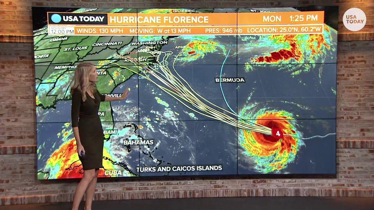 Hurricane Florence Strengthens To Category 4 Targets Carolinas 1