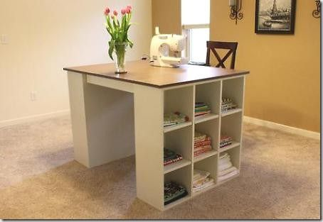 Made It On Monday Craft Tables With Storage Craft Table Diy Craft Room Desk