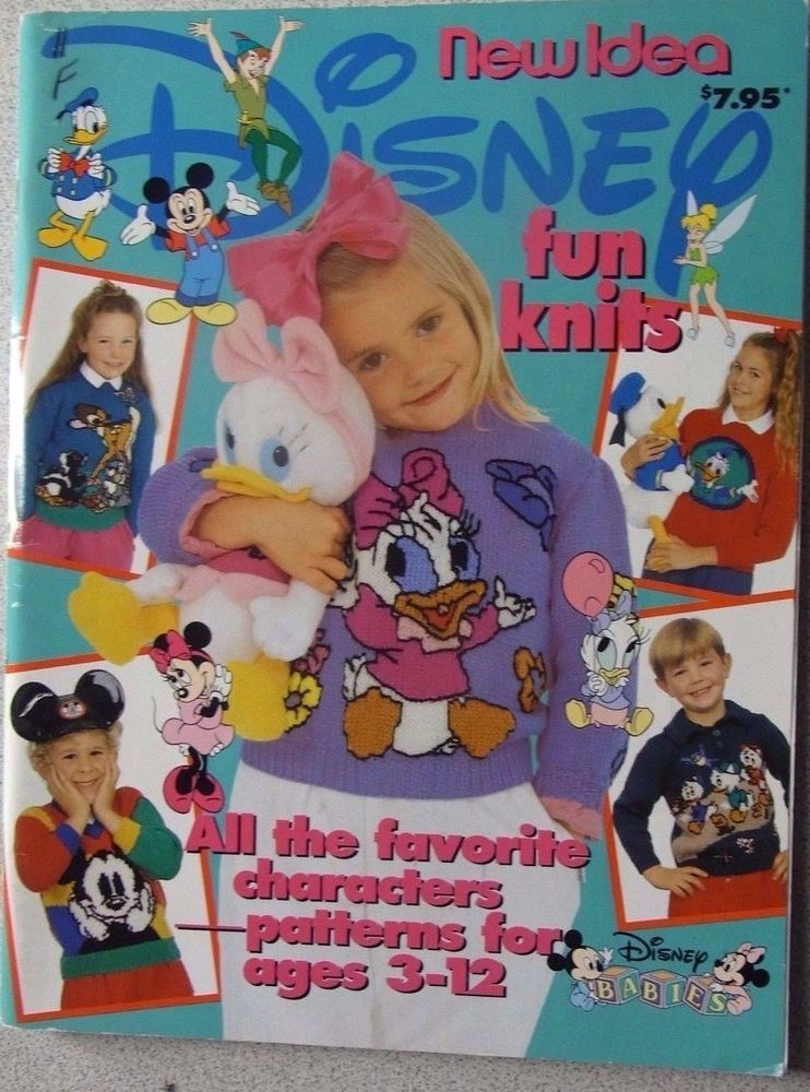 Knitting pattern book New Idea Children's Disney Characters knitwear for 3-12 #NewIdea
