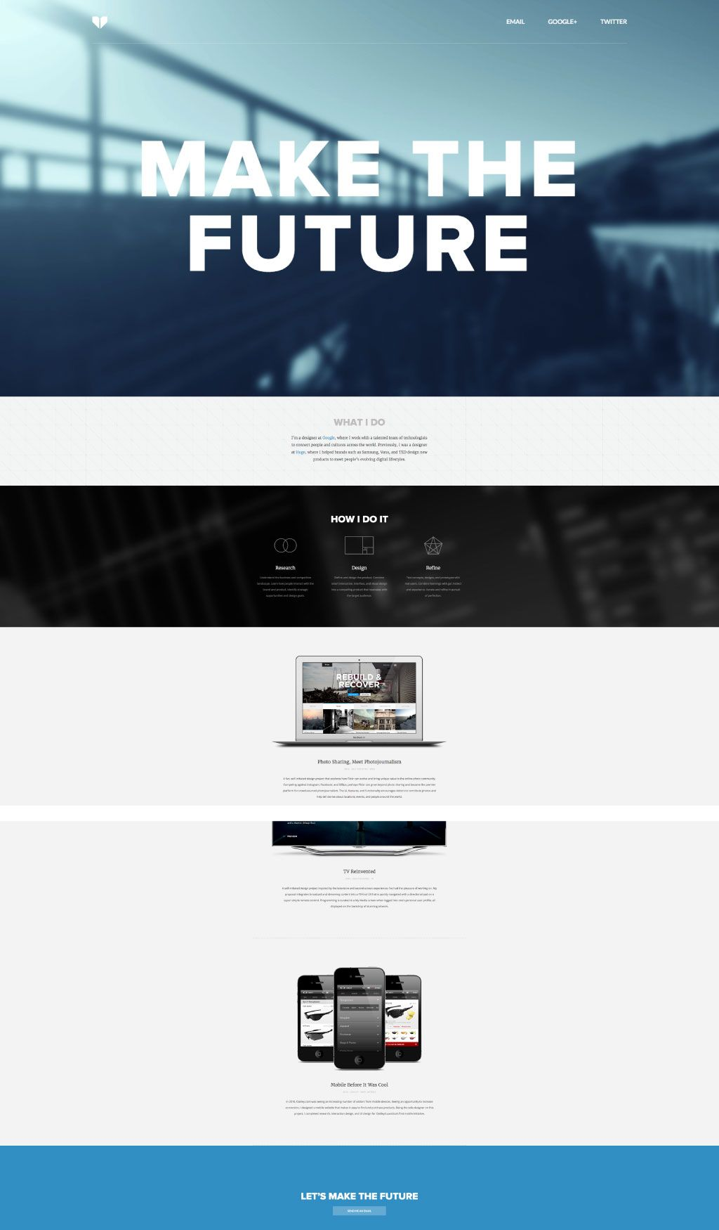 Beautiful Strong Bold Clean Simple Modern Portfolio Site A