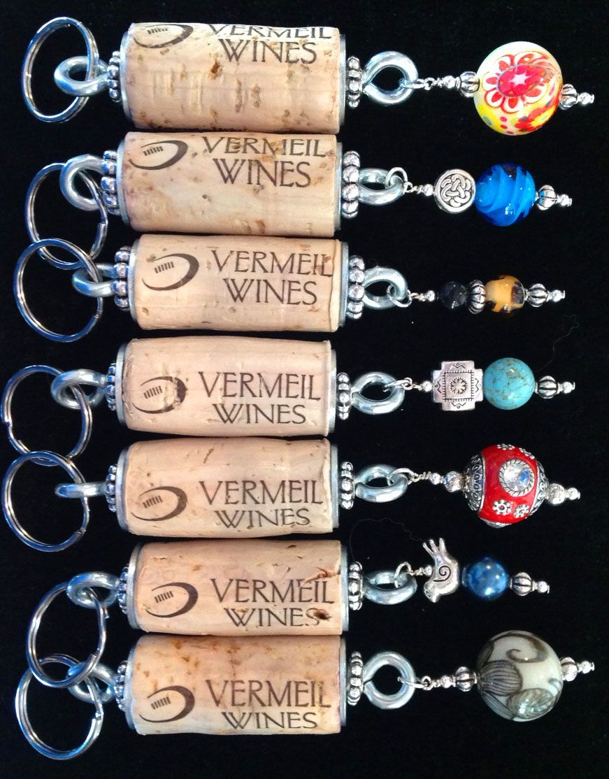 Frank Family Vineyards Wine Cork Keychain